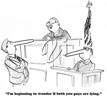 Royalty Free Clipart Image of a Judge Looking upset During a Trial