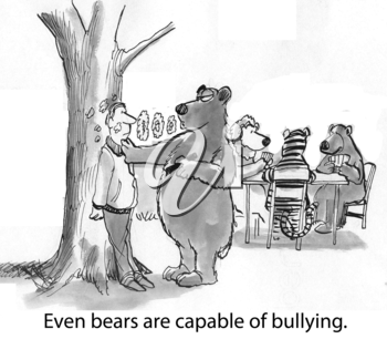 Even bears are capable of bullying.
