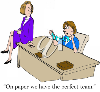 On paper we have the perfect team.
