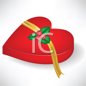 Royalty Free Clipart Image of a Box of Chocolates