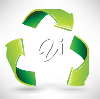 three recycle environmental arrows in circle