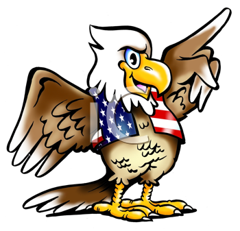 Royalty Free Clipart Image of an American Bald Eagle