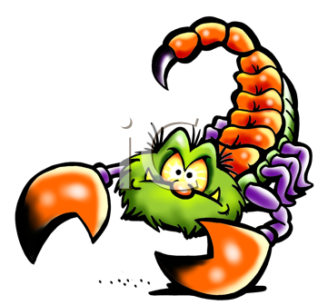 Royalty Free Clipart Image of an Angry Scorpion