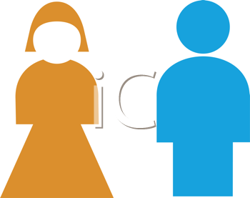 Royalty Free Clipart Image of Restroom Symbols