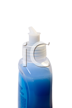 Royalty Free Photo of Detergent in a Plastic Bottle