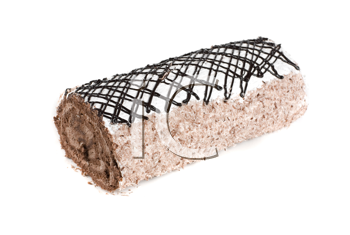 Royalty Free Photo of a Chocolate Swiss Roll