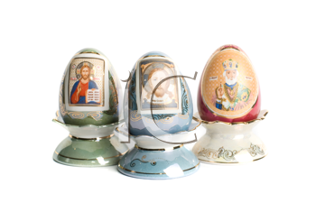 Royalty Free Photo of Paschal Eggs With Saint Icons
