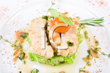 Royalty Free Photo of a Salad With Halibut