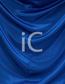 Royalty Free Photo of a Blue Textile