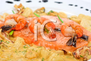 Royalty Free Photo of a Seafood Dish