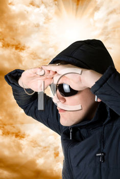 Royalty Free Photo of a Man Wearing Sunglasses