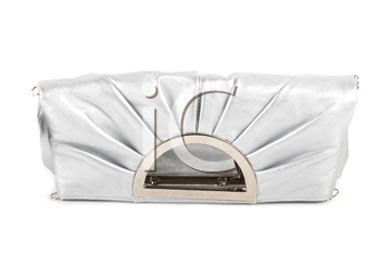 Lady handbag clutch isolated on a white