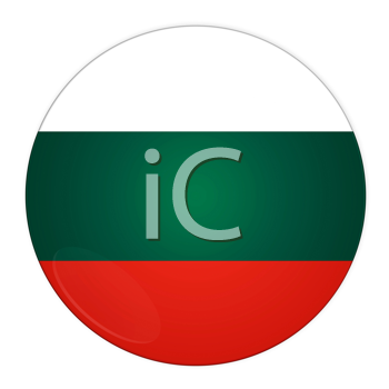 Abstract illustration: button with flag from Bulgaria country