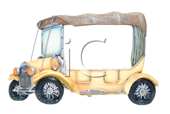 Frame of foto as toy car on white background