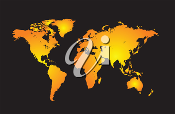 Royalty Free Clipart Image of a Map of the World