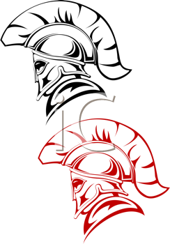 Royalty Free Clipart Image of Warriors