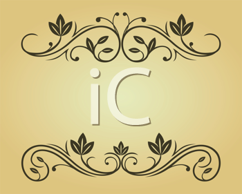 Royalty Free Clipart Image of a Set of Victorian Elements