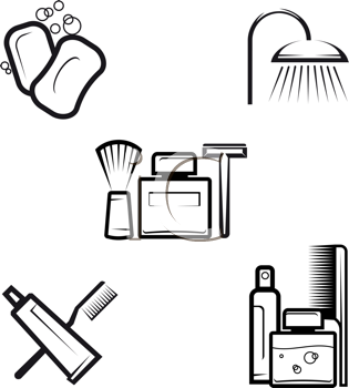 Royalty Free Clipart Image of Personal Hygiene Products