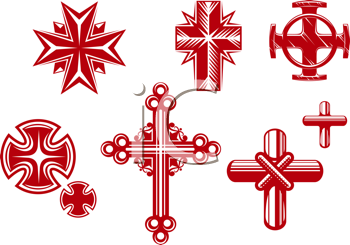 Royalty Free Clipart Image of Crosses