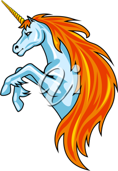 Magic unicorn horse in cartoon style for fantasy design