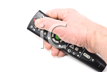 Royalty Free Photo of a Remote Control in Hand
