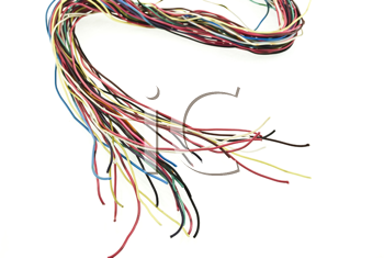 Royalty Free Photo of Colorful Wires