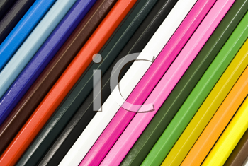 Royalty Free Photo of Colorful Pencil Crayons