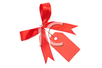 Royalty Free Photo of a Bow With Label