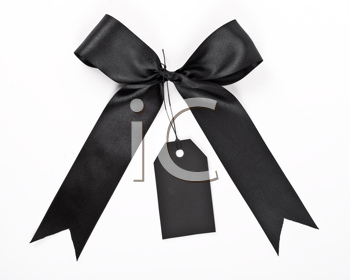 Black bow with label
