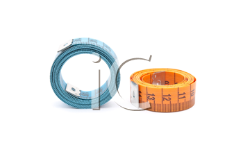Curled measuring tapes