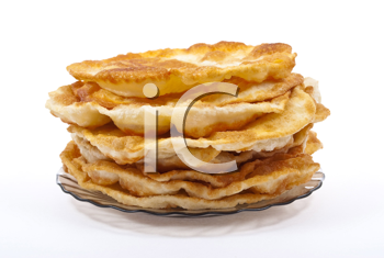 Stack of pancakes on the plate