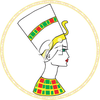 Royalty Free Clipart Image of a Drawing of an Egyptian Person