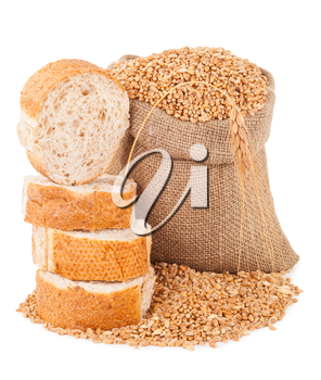 Bag with grain and bread