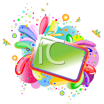 Royalty Free Clipart Image of a Colourful Frame