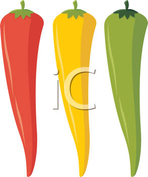 Royalty Free Clipart Image of Chili Peppers