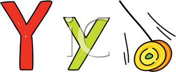 Royalty Free Clipart Image of Y is for Yoyo
