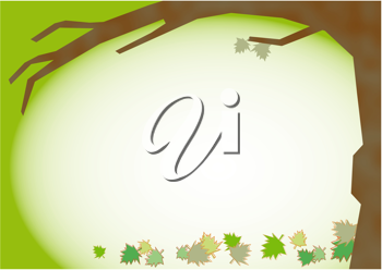 Royalty Free Clipart Image of a Tree in Fall