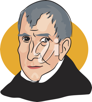 Royalty Free Clipart Image of William Henry Harrison