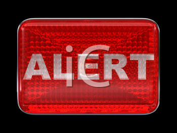 Royalty Free Clipart Image of an Alert Button