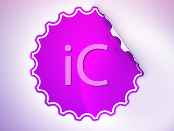 Royalty Free Clipart Image of a Magenta Sticker