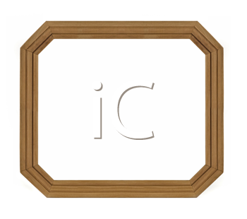 Wooden Octagonal Frame for picture or portrait isolated