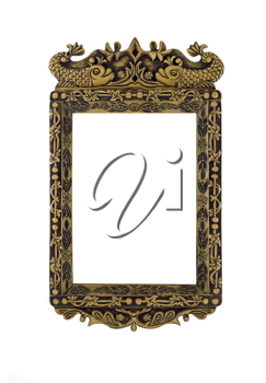 Empty carved Frame for picture or portrait over white
