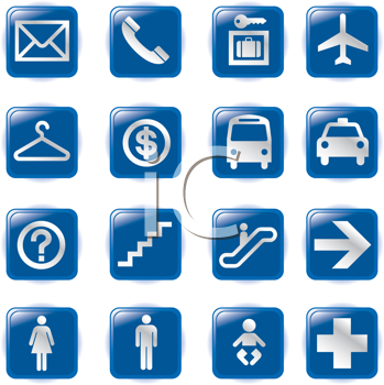 Royalty Free Clipart Image of a Set of Symbols