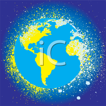Royalty Free Clipart Image of the World