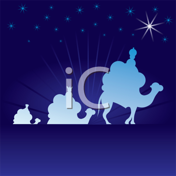 Royalty Free Clipart Image of the Wise Men