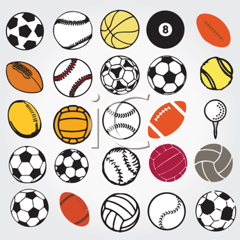 Royalty Free Clipart Image of Sports Ball