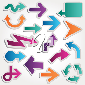 Royalty Free Clipart Image of a Set of Arrows