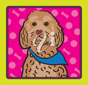 Royalty Free Clipart Image of a Cockapoo