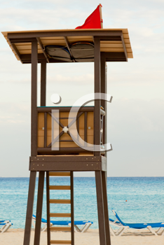 Royalty Free Photo of a Lifeguard Stand