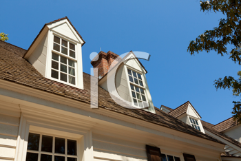 Royalty Free Photo of Dormers on a House